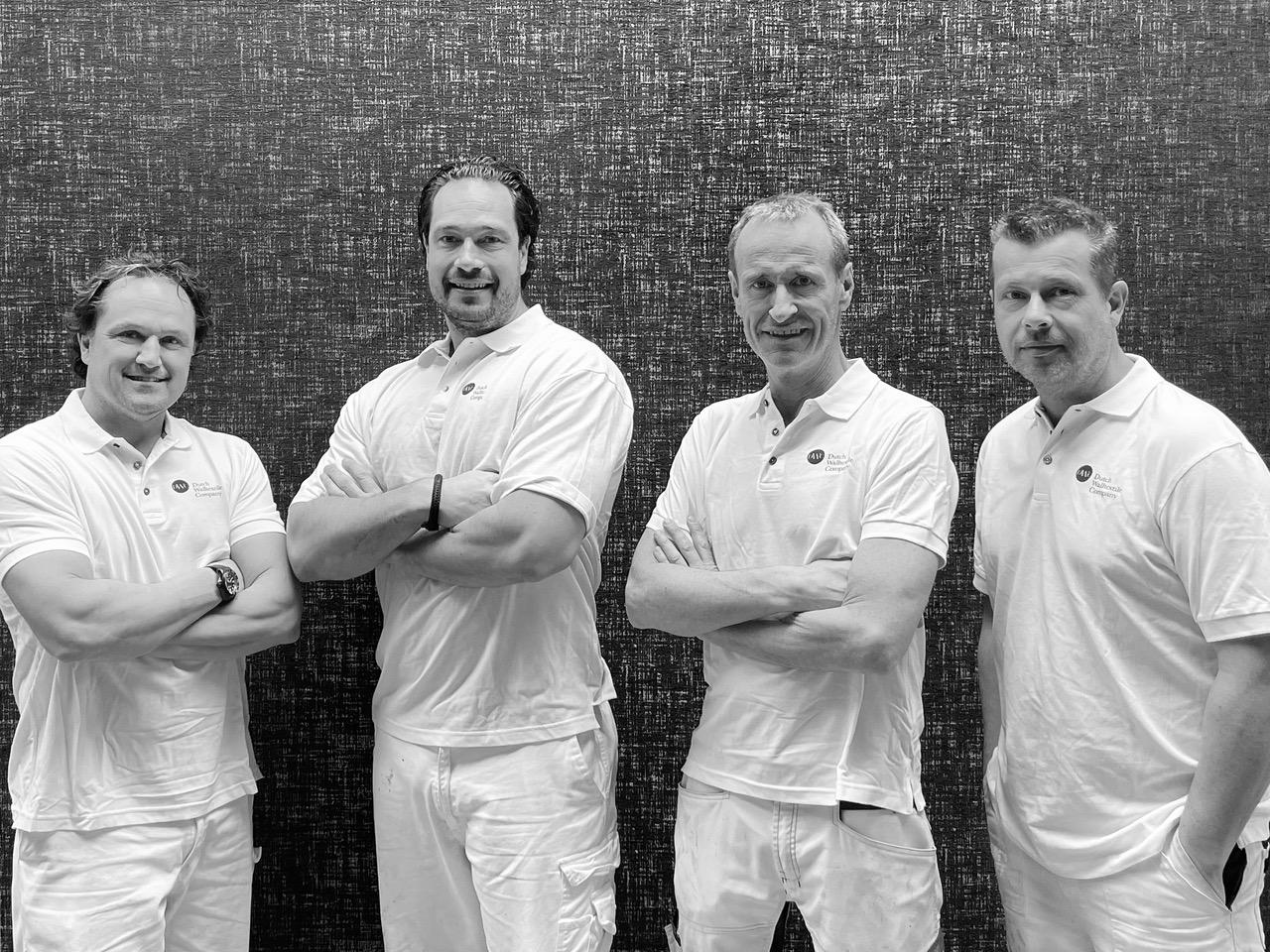Van links naar rechts: Yuri, Tim, Chris, Marcel.