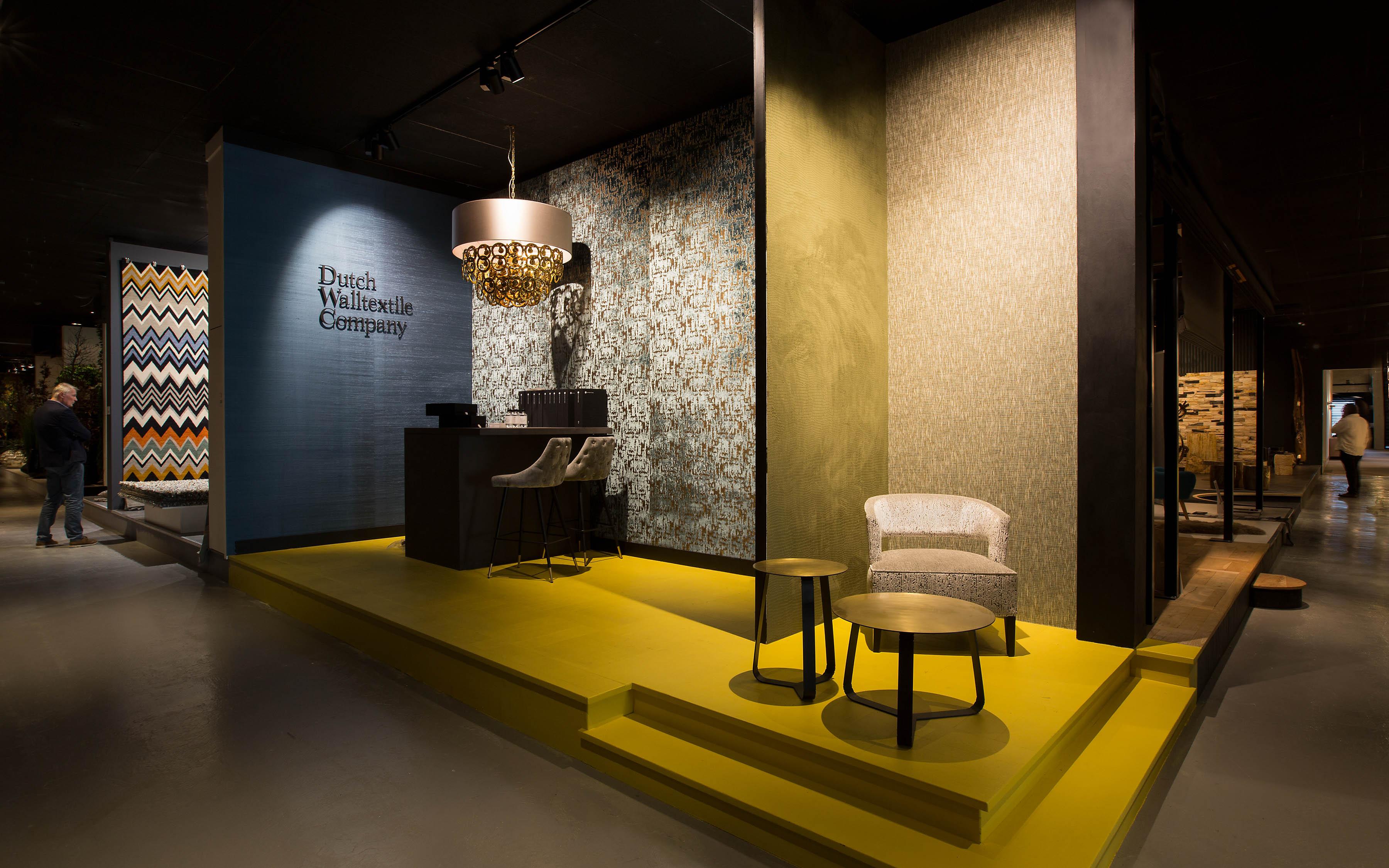 De Dutch Walltextile Company Showroom en ETC Design Centre Europe